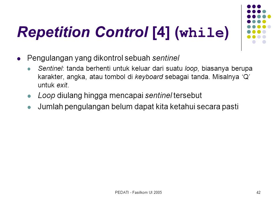 Repetition Control [4] (while)